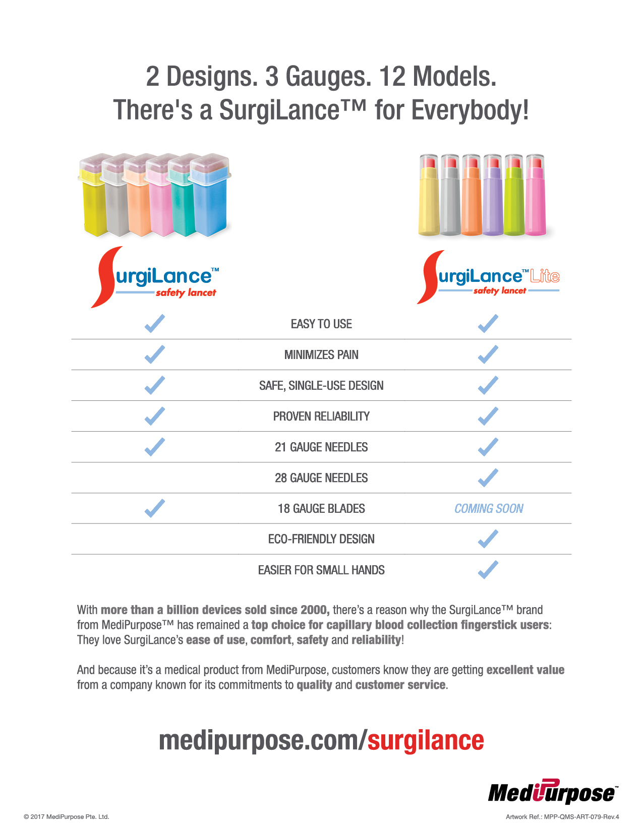SurgiLance™ Safety Lancet Product Guide